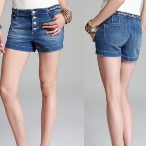 Free People shorts with braided belt detail